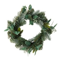 SMYCKA artificial wreath, green
