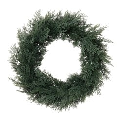 SMYCKA artificial wreath, in/outdoor, cedar