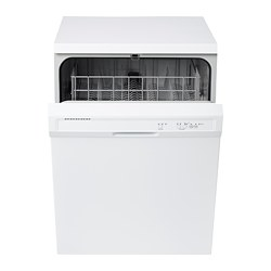 "LAGAN built-in dishwasher, gray white Width: 23 7/8 "" Depth: 24 1/2 "" Height: 33 1/2 "" Width: 60.6 cm Depth: 62.2 cm Height: 85.1 cm"