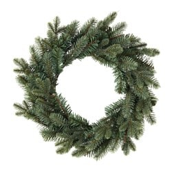 SMYCKA artificial wreath, in/outdoor, spruce