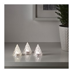 VINTER 2017 LED decoration lighting, battery-operated Height: 6 cm Package quantity: 3 pieces