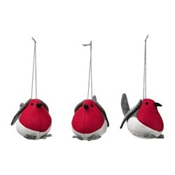 "VINTER 2017 hanging decoration, bird felt Height: 2 "" Package quantity: 3 pack Height: 5 cm Package quantity: 3 pack"