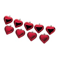 "VINTER 2017 hanging decoration, heart, red Height: 2 ¼ "" Package quantity: 9 pack Height: 6 cm Package quantity: 9 pack"
