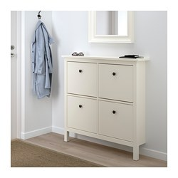 Beau HEMNES Shoe Cabinet With 4 Compartments, White