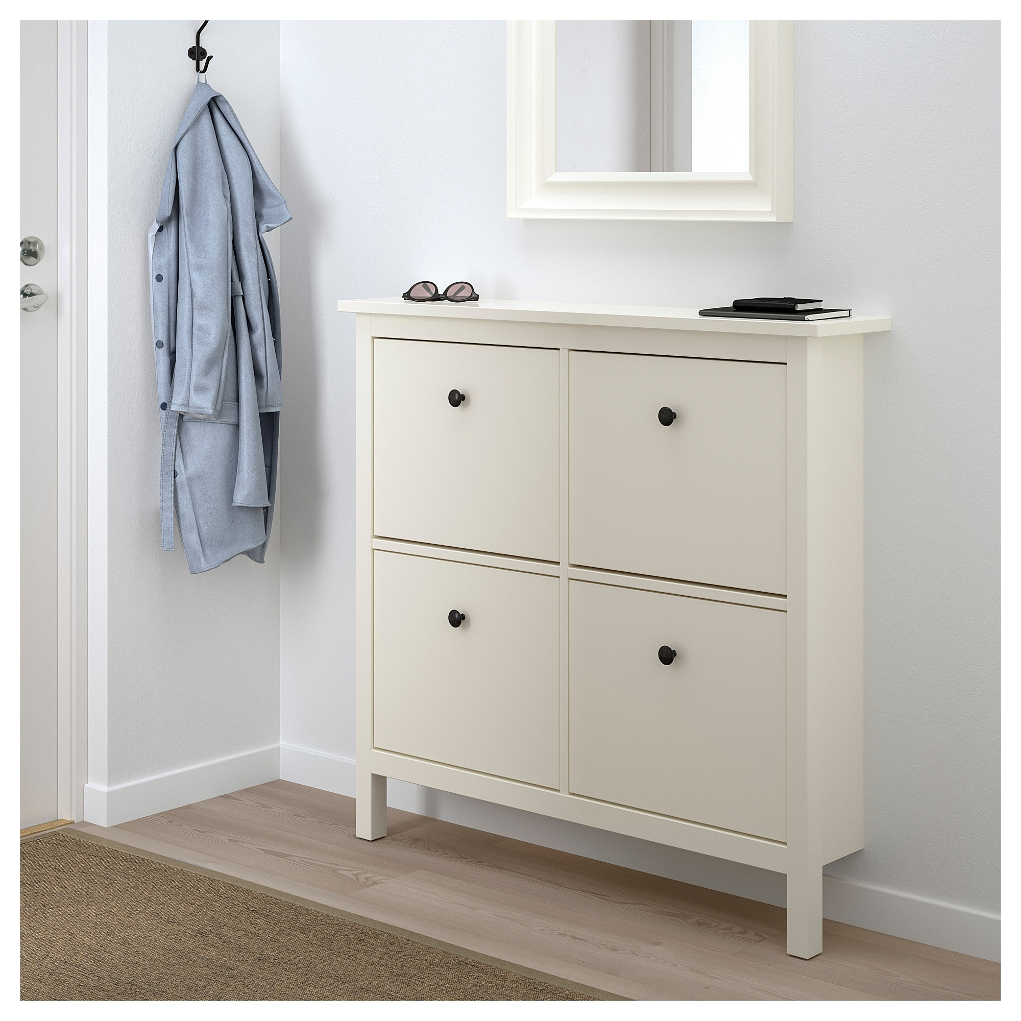 Ikea Shoe Drawers Hemnes Shoe Cabinet With 4 Compartments White Ikea