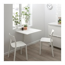 Norberg Wall Mounted Drop Leaf Table White Ikea Family