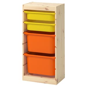 Color: Light white stained pine orange/yellow.