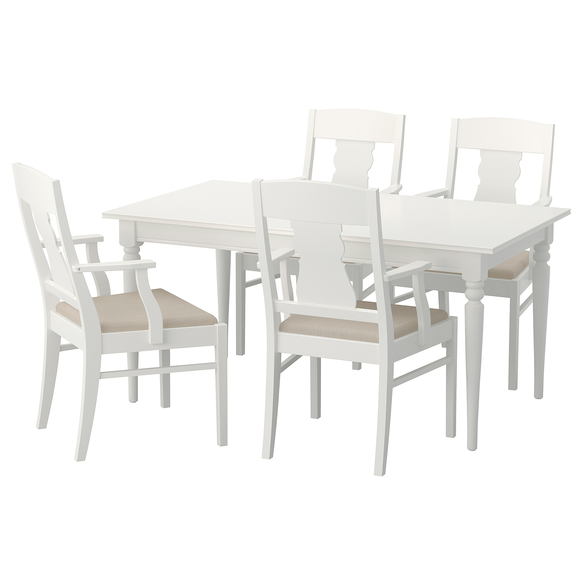 INGATORP / INGATORP Table and 4 chairs - white - IKEA