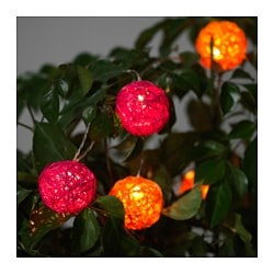 SOLVINDEN decoration for string light, orange, pink