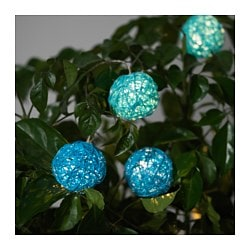 SOLVINDEN decoration for lighting chain, blue, turquoise