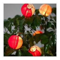 SOLVINDEN decoration for string light, globe multicolor