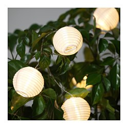 Outdoor lighting string lights ikea solvinden decoration for string light globe white aloadofball Images