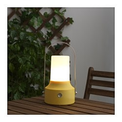 SOLVINDEN LED solar-powered lantern, yellow
