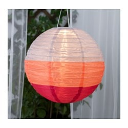 SOLVINDEN solar-powered pendant lamp, globe multicolor