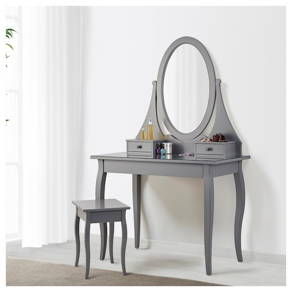 new concept 63406 b843d Dressing table with mirror HEMNES grey