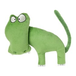 SAGOSKATT soft toy, hippo crocodile Length: 27 cm
