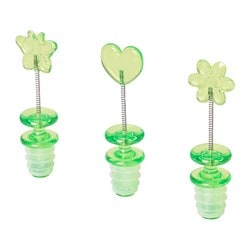 RESTAD bottle stopper, green Package quantity: 3 pack