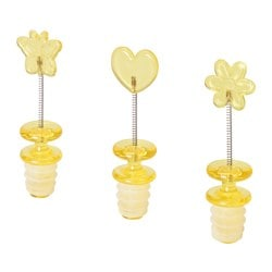 RESTAD bottle stopper, yellow Package quantity: 3 pack