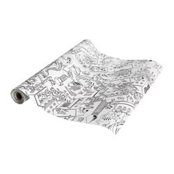 LUSTIGT colouring paper roll