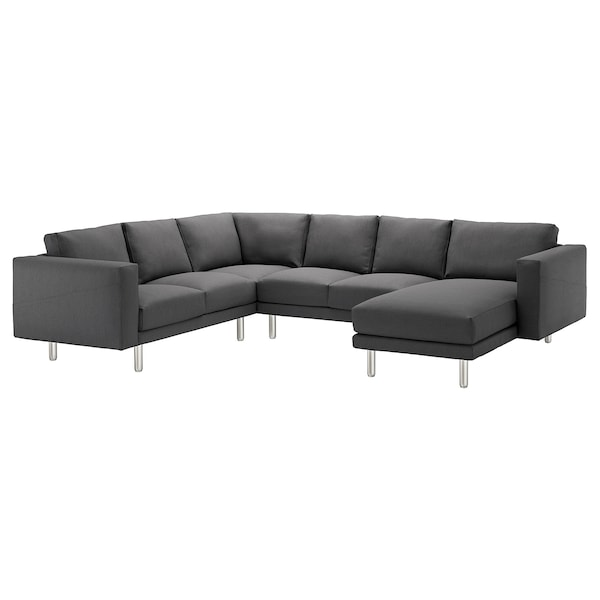 Fabulous Corner Sofa 5 Seat Norsborg With Chaise Longue Finnsta Dark Grey Metal Gmtry Best Dining Table And Chair Ideas Images Gmtryco