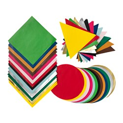 LUSTIGT origami paper, mixed colours, mixed shapes