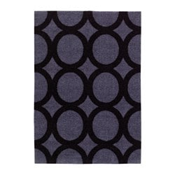 MEJLS door mat, circle pattern grey/black
