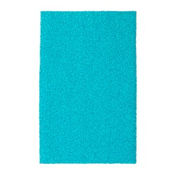 OPLEV door mat, indoor/outdoor turquoise