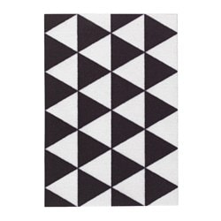 SOMMAR 2018 door mat, triangle pattern black/white