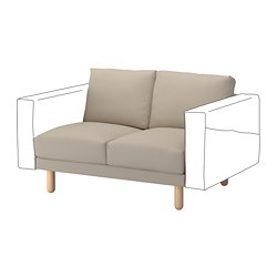 NORSBORG 2-seat section, Edum beige, birch