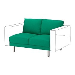 NORSBORG 2-seat section, Edum bright green, metal