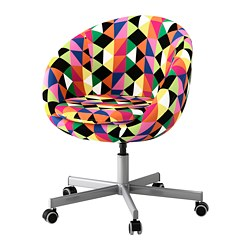SKRUVSTA swivel chair, Majviken multicolour Tested for: 110 kg Min. height: 79 cm Max. height: 86 cm