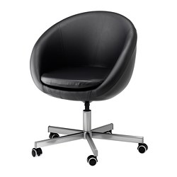 SKRUVSTA swivel chair, Idhult black Tested for: 110 kg Min. height: 79 cm Max. height: 86 cm