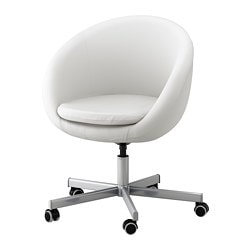 SKRUVSTA swivel chair, Idhult white Tested for: 110 kg Min. height: 79 cm Max. height: 86 cm