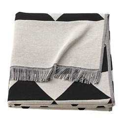 JOHANNE throw, black/natural black/white
