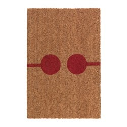 VEJERS door mat, natural, red