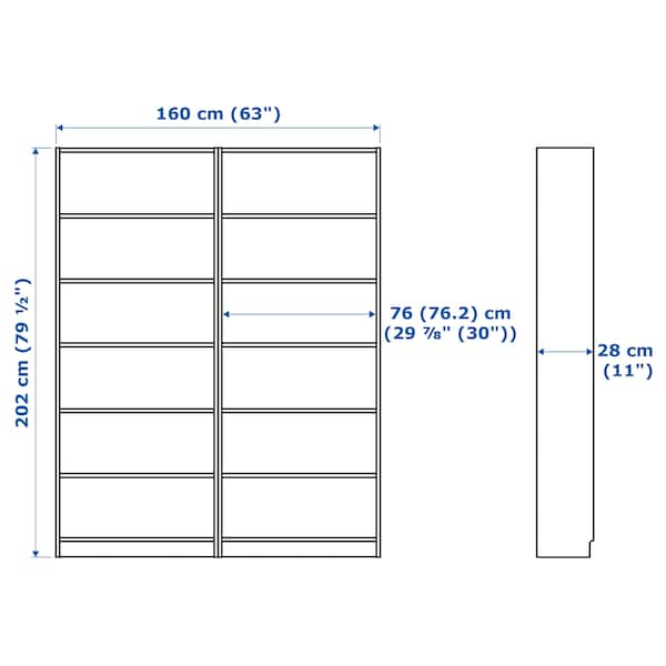 IKEA BILLY / OXBERG Bookcase with panel/glass doors