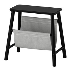 VILTO storage stool, black