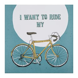 "EDELVIK poster, I want to ride my bike Width: 19 ¾ "" Height: 19 ¾ "" Width: 50 cm Height: 50 cm"