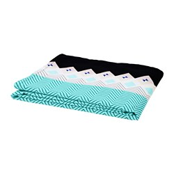 SOMMAR 2018 tablecloth, turquoise, patterned