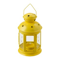 ROTERA lantern for tealight, in/outdoor yellow