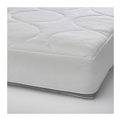 JÄTTETRÖTT pocket sprung mattress for cot, white