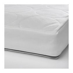 JÄTTETRÖTT, Pocket spring mattress for crib, white
