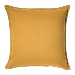 GURLI, Cushion cover, golden-yellow
