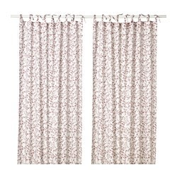 HÄSSLEKLOCKA Curtains, 1 Pair