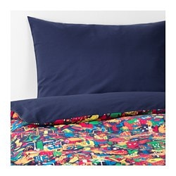 LUSTIGT duvet cover and pillowcase(s), multicolor