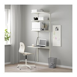 ALGOT wall upright/shelves, white