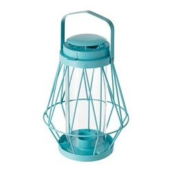 SOMMAR 2018 lantern for tealight, in/outdoor, turquoise