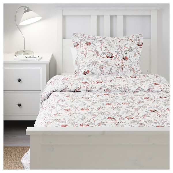 spr ng rt bettw scheset 2 teilig wei rosa ikea. Black Bedroom Furniture Sets. Home Design Ideas
