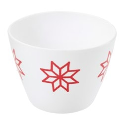 VINTER 2017 bowl, star red, white Height: 8 cm Diameter: 11 cm