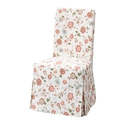 HENRIKSDAL chair cover, long, Videslund multicolor